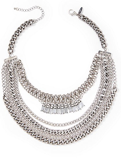 Chain-Link Statement Necklace  - New York & Company