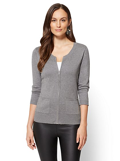 Chelsea Zip-Front Cardigan - New York & Company
