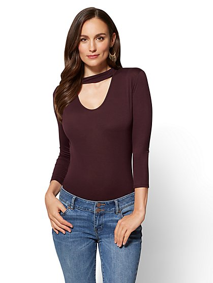 Choker Bodysuit - New York & Company