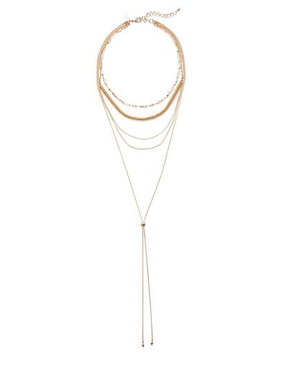 Choker Lariat Necklace  - New York & Company