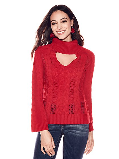 Choker Turtleneck Sweater - New York & Company