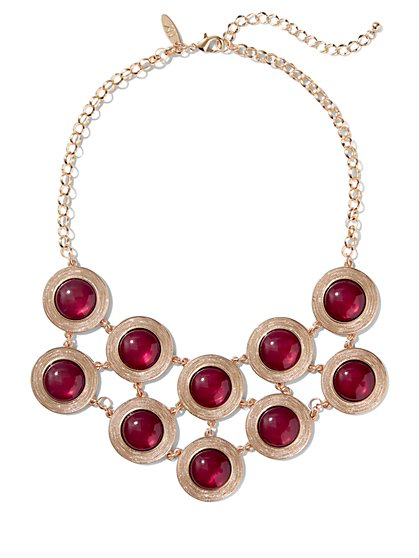 Circular Bib Statement Necklace  - New York & Company