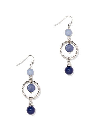Circular Linear Drop Earring  - New York & Company