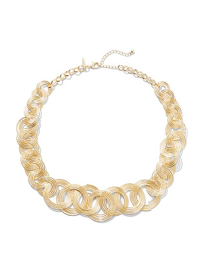 Circular Link Necklace  - New York & Company
