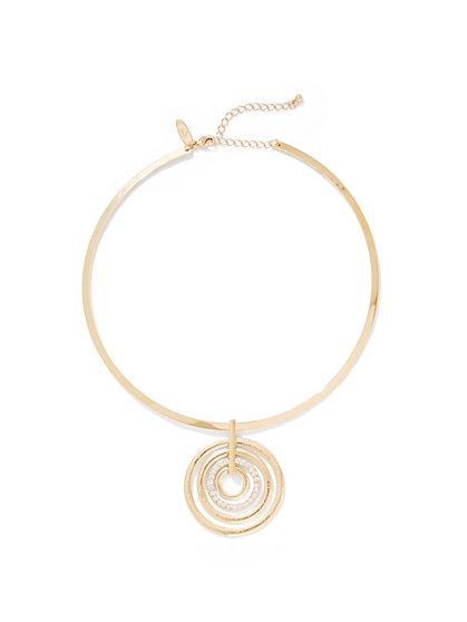 Circular Pendant Collar Necklace - New York & Company
