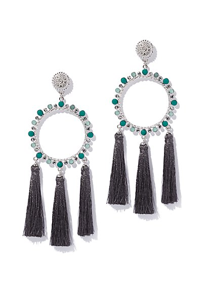 Circular Tassel Drop Earring - New York & Company
