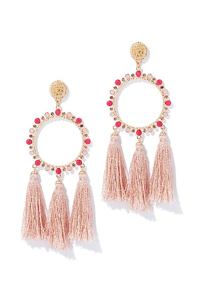 Circular Tassel Drop Earring - New York & Company