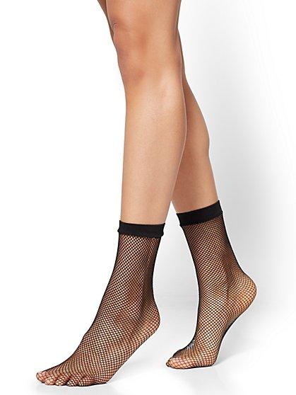 City Tights - Fishnet Sock - Black - New York & Company