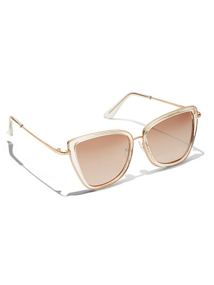Clear-Frame Cat-Eye Sunglasses - New York & Company
