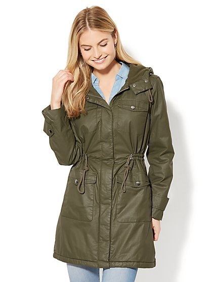 Coated Long Anorak - New York & Company