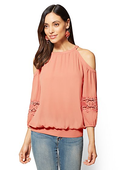 Cold-Shoulder Blouse - New York & Company