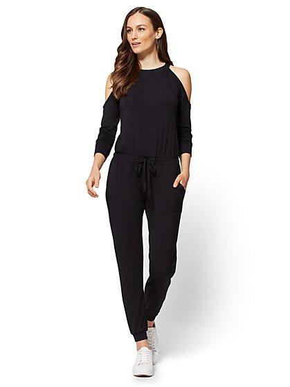 Cold-Shoulder Jumpsuit - New York & Company