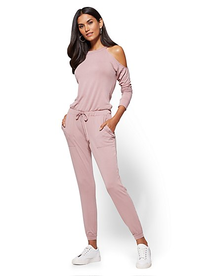Cold-Shoulder Jumpsuit - New York & Company