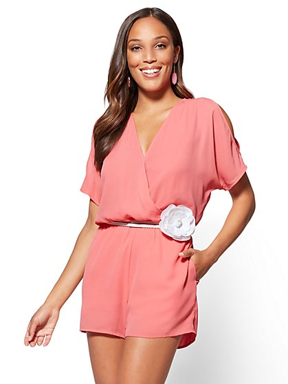 Cold-Shoulder Romper - New York & Company