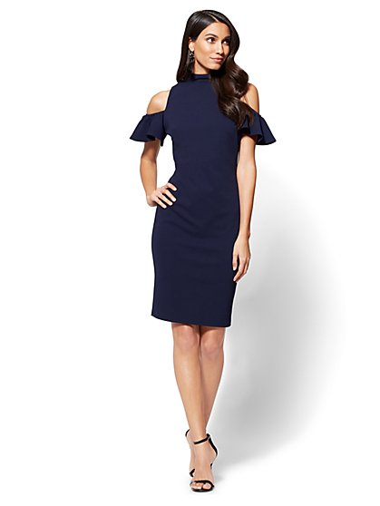 Cold-Shoulder Sheath Dress - New York & Company