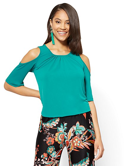 Cold-Shoulder Top - New York & Company