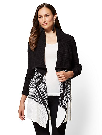 Colorblock Flyaway Cardigan - New York & Company