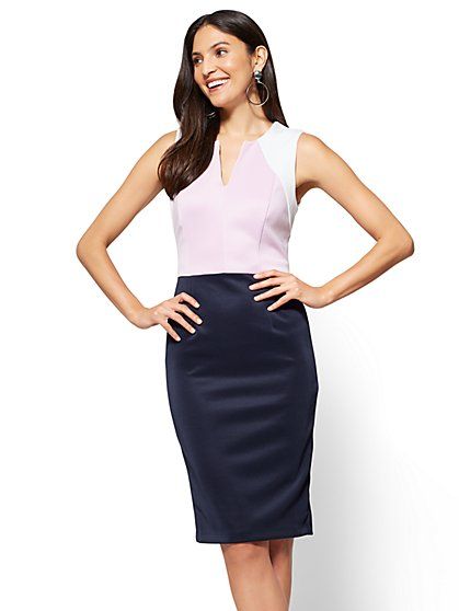 Colorblock Sheath Dress - Petite - New York & Company