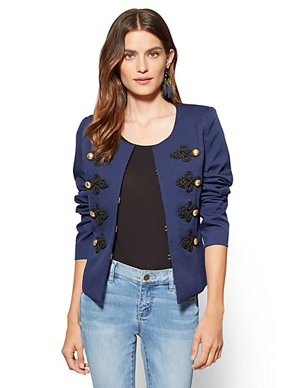 Contrast-Trim Jacket  - New York & Company