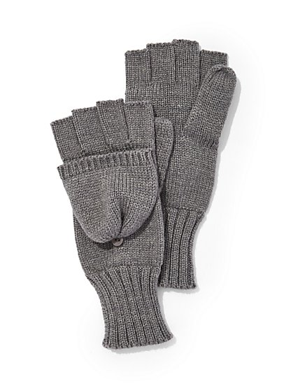 Convertible Knit Gloves/Mittens - New York & Company