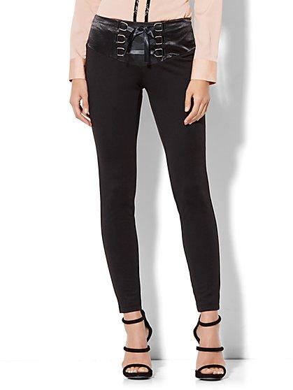 Corset-Waist Slim-Leg Pant - New York & Company
