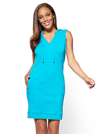 Cotton Hoodie Dress - New York & Company