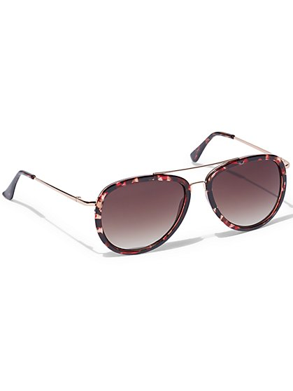 Covered Aviator Sunglasses  - New York & Company