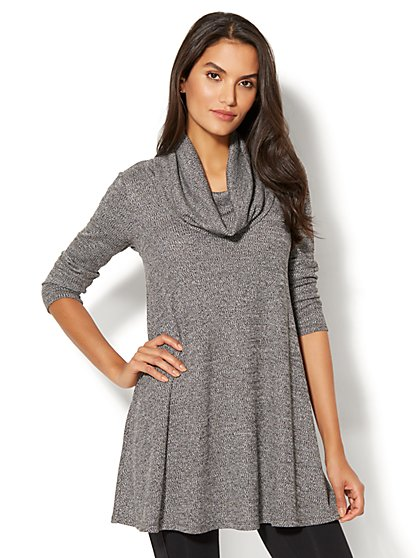 Cowl-Neck Tunic Sweater - New York & Company