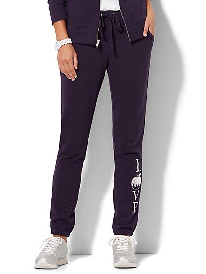 Cozy Montauk Jogger Pant - Logo Print - New York & Company