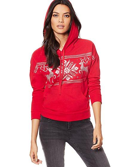 Cozy Reindeer Hoodie - New York & Company