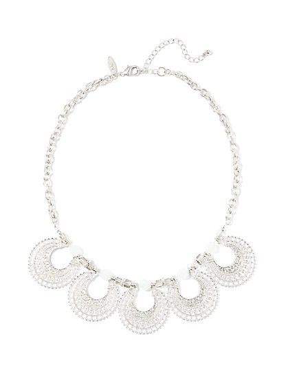 Crescent-Shaped Collar Necklace  - New York & Company