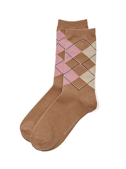 Crew Sock - Argyle  - New York & Company