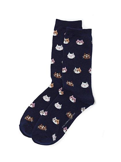 Crew Sock - Cat Print - New York & Company