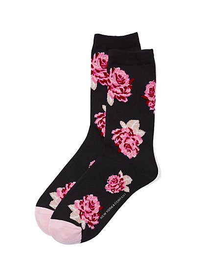 Crew Sock - Floral  - New York & Company