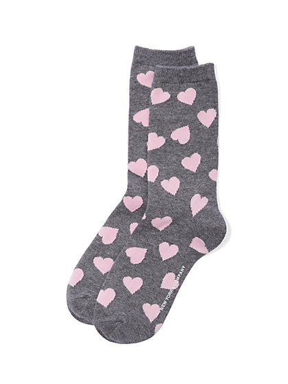 Crew Sock - Heart Print  - New York & Company