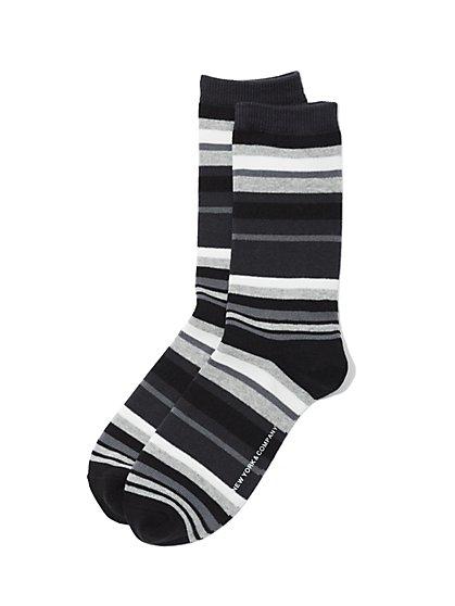 Crew Sock - Multi Stripe - New York & Company