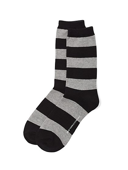 Crew Sock - Rugby Stripe  - New York & Company