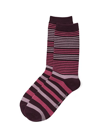 Crew Sock - Stripe  - New York & Company