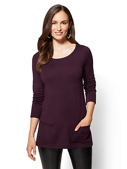 Crewneck Tunic Sweater - New York & Company