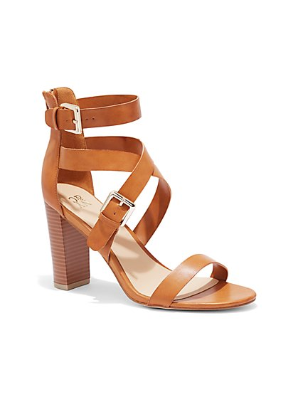 Criss-Cross Sandal - Cognac - New York & Company