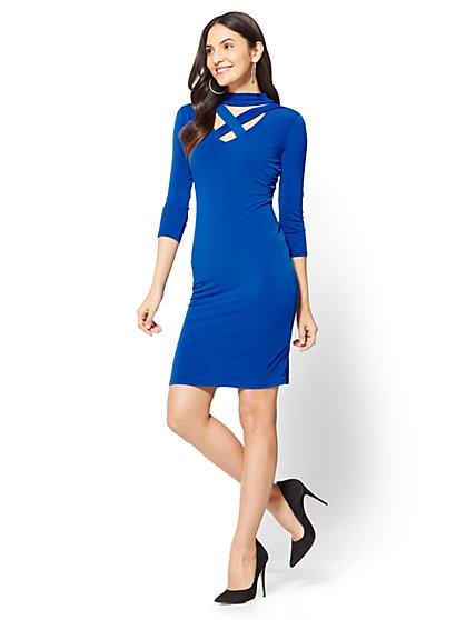 Criss-Cross Sheath Dress - New York & Company