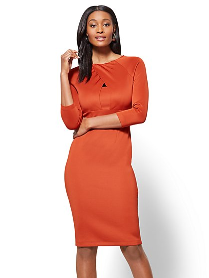 Criss-Cross Sheath Dress - New York & Company