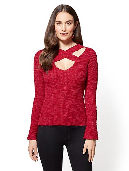 Crisscross Sweater - New York & Company