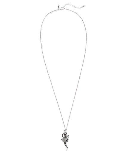 Crocodile Pendant Necklace  - New York & Company