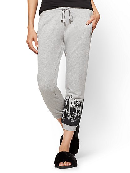 Crop Jogger Pant - Heather Grey - New York & Company