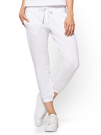 Crop Jogger Pant - White - New York & Company