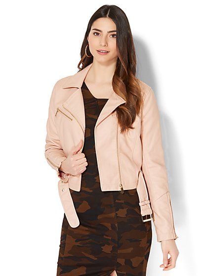 Cropped Moto Jacket - New York & Company