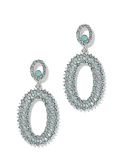 Crystal Oval Drop Earring - New York & Company