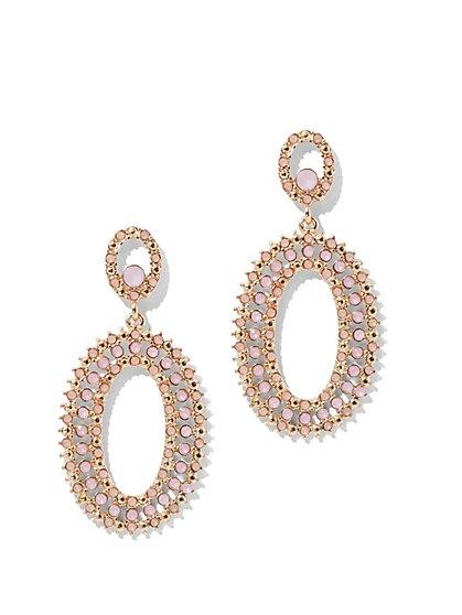 Crystal Oval Drop Earring - New York & Company