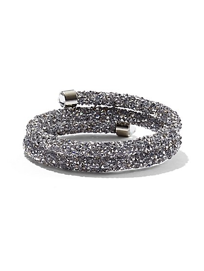 Crystalline Wrap-Around Cuff Bracelet - New York & Company